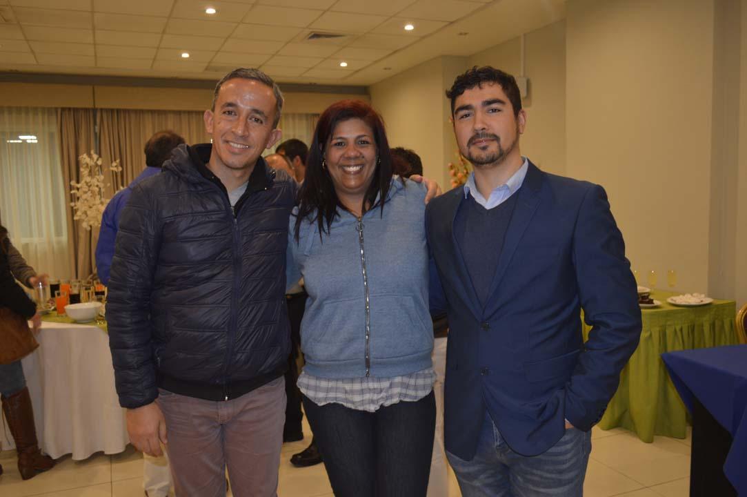 Javier Leiva, Tatiana Beldarraín y Erick Jara