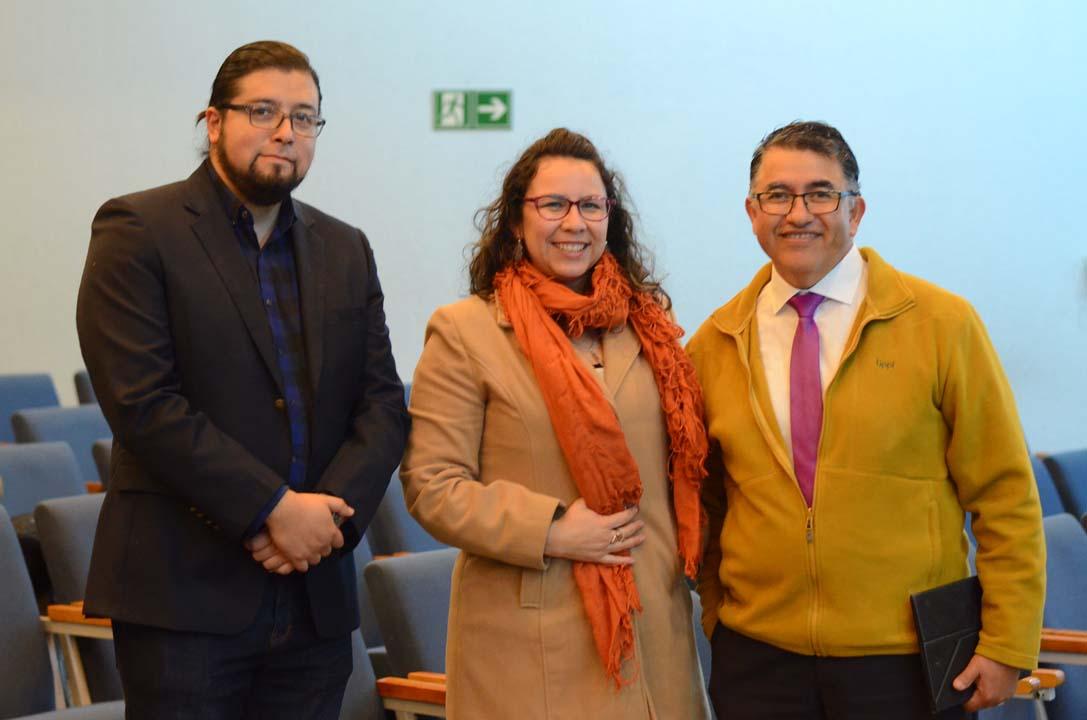 Ricardo Barrientos, Paula Burgos y Juan Figueroa