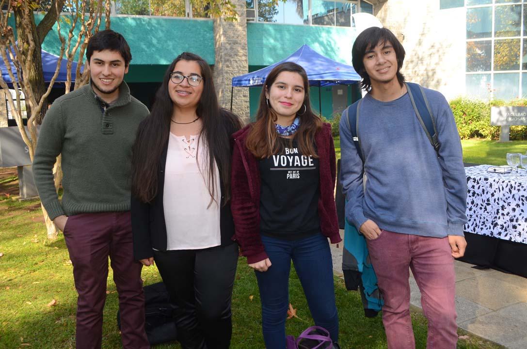 Eduardo González, Soledad González, Paz Carrasco y Jaime Valenzuela