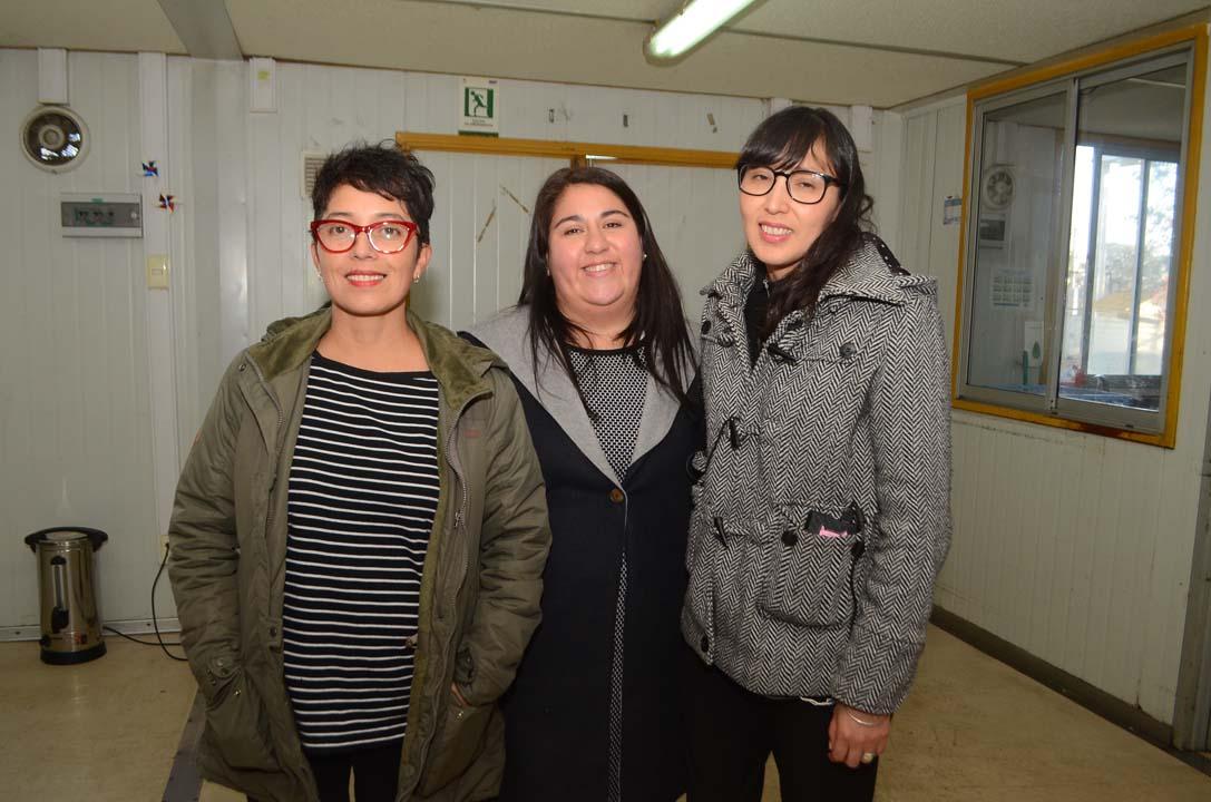 Gladys Arriagada, Viviana Torres e Ingrid López