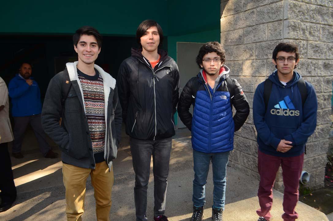 José Tapia, Vladimir Zavala, Felipe Carrasco y Mario Ulloa