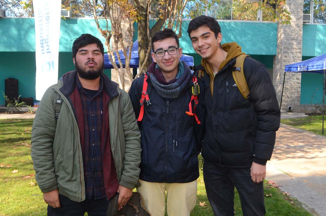 Clever García, Nicolás Reyes y Paulo Chaparra