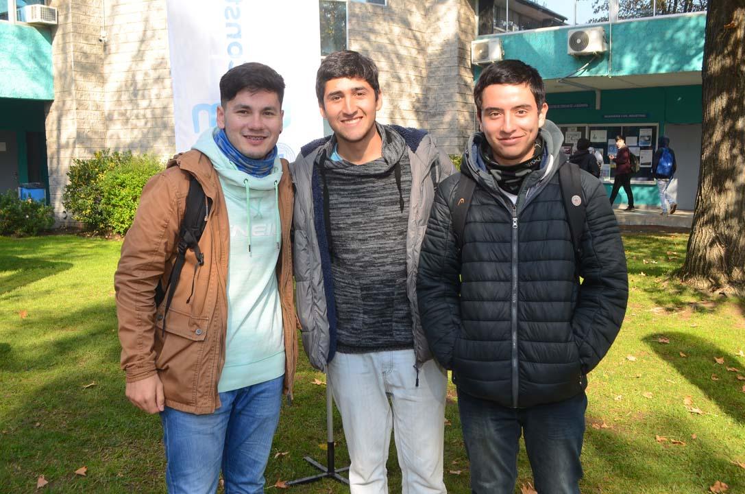 Diego Hidalgo, Francisco Herrera y Pablo Fuentes