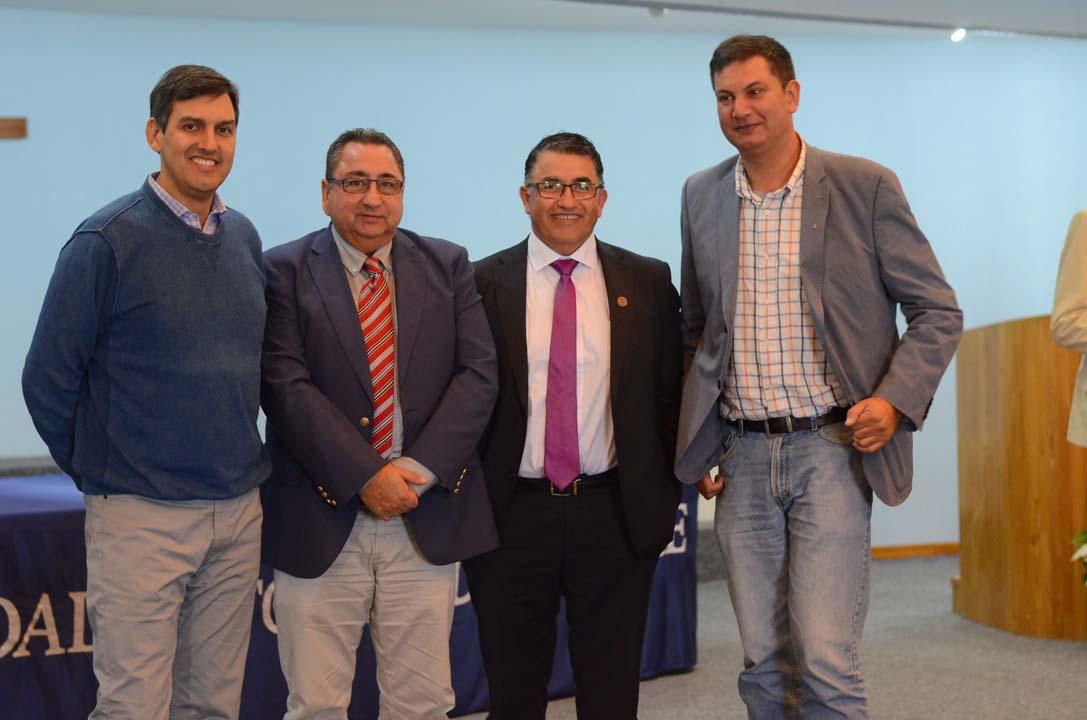 Carlos Burgos, Hernán Cabrera, Juan Figueroa y Lino Alfaro