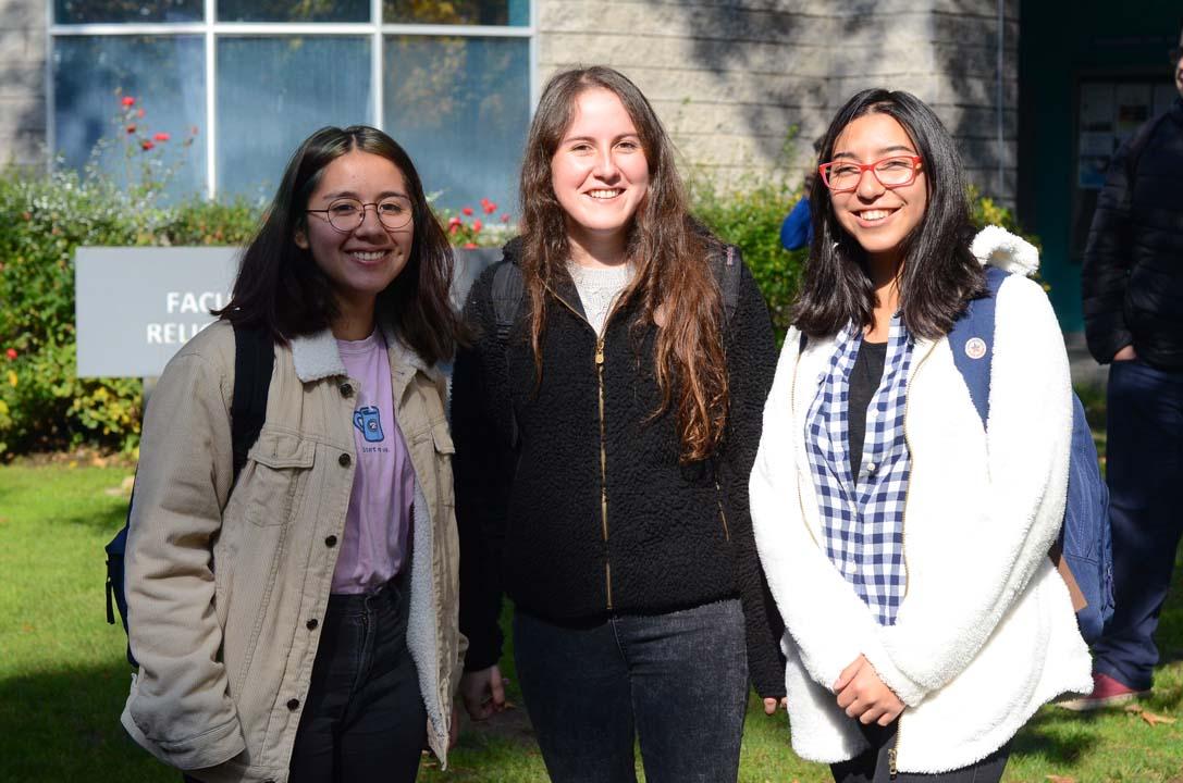 Yamilet Del Pino, Catalina Díaz y Camila Piña