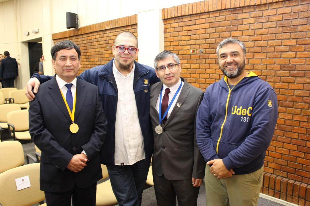 Víctor Jara, Francisco Parada, Erasmo Escobar y Alejandro Jiménez