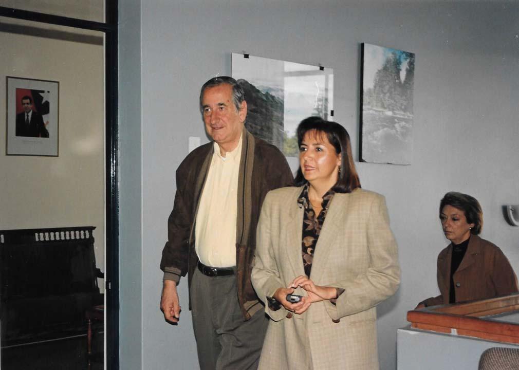Myriam Quezada junto a intendente Jaime Tohá