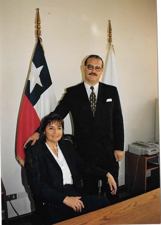 Myriam junto a su marido