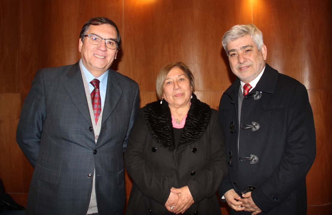 Patricio Huepe, Brígida Hormazábal y Edgardo Venegas