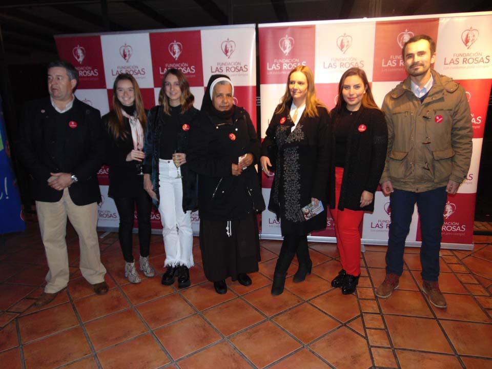 Mauricio Moreno, Rosario Iturbe, Macarena Torretti, Hna. Elba Montes, Paula Val, Yankay Correa y Gonzalo Zúñiga