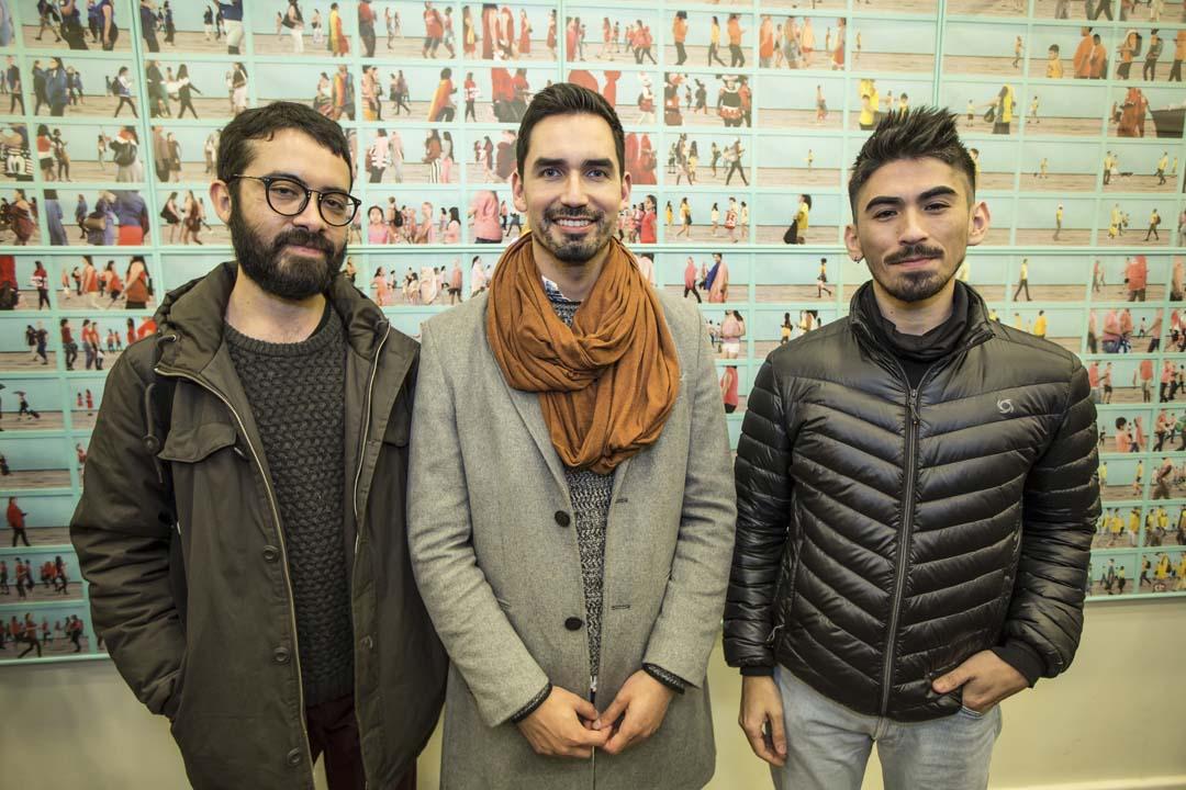 Tomás Aravena, Mauro Rivera y Nicolás Tapia