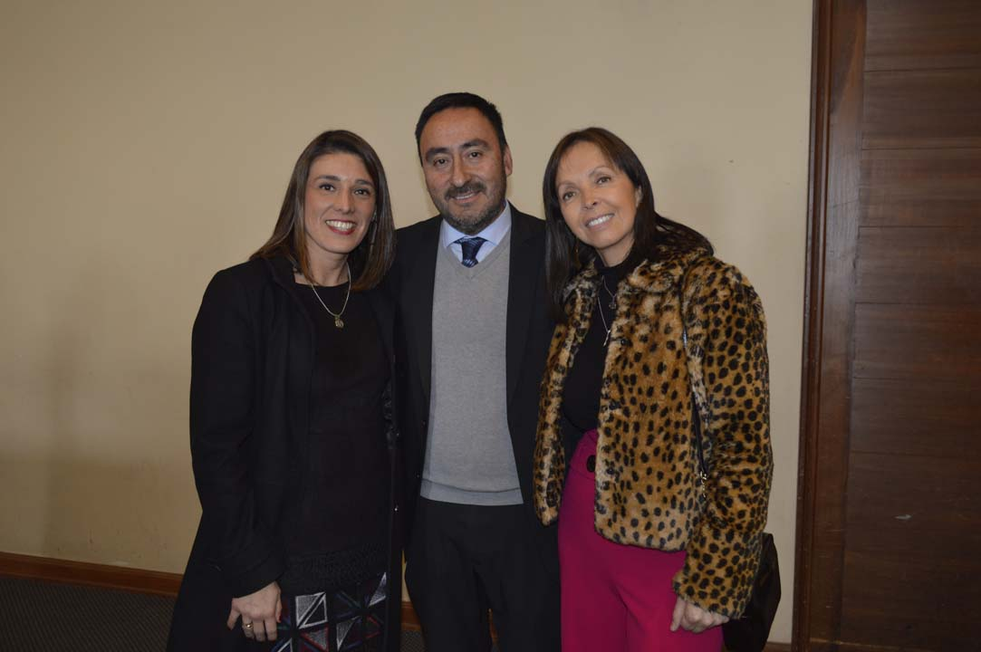 Jacqueline Goldschmidt (Jefa Comercial Sucursal Concepción), Carlos Villanueva y Silvia Rodríguez