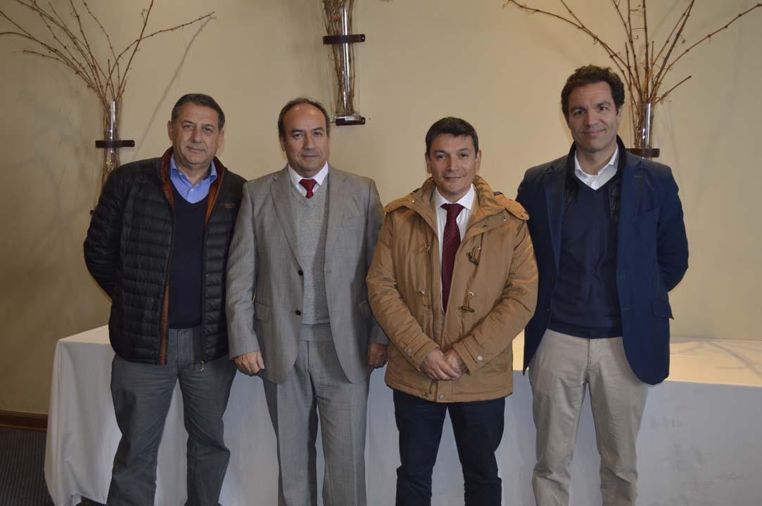 Felipe Correa, Patricio Chandía, Marcelo Espinoza y Yago Figares
