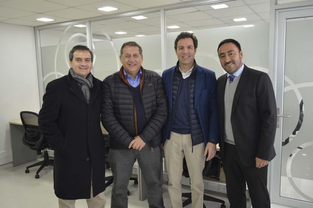 Rodrigo Heredia (Gerente Comercial), Felipe Correa (Gerente Canal Tradicional), Yago Figares (Gerente de Estrategia y Desarrollo) y Carlos Villanueva (Gerente Sucursal Chillán)