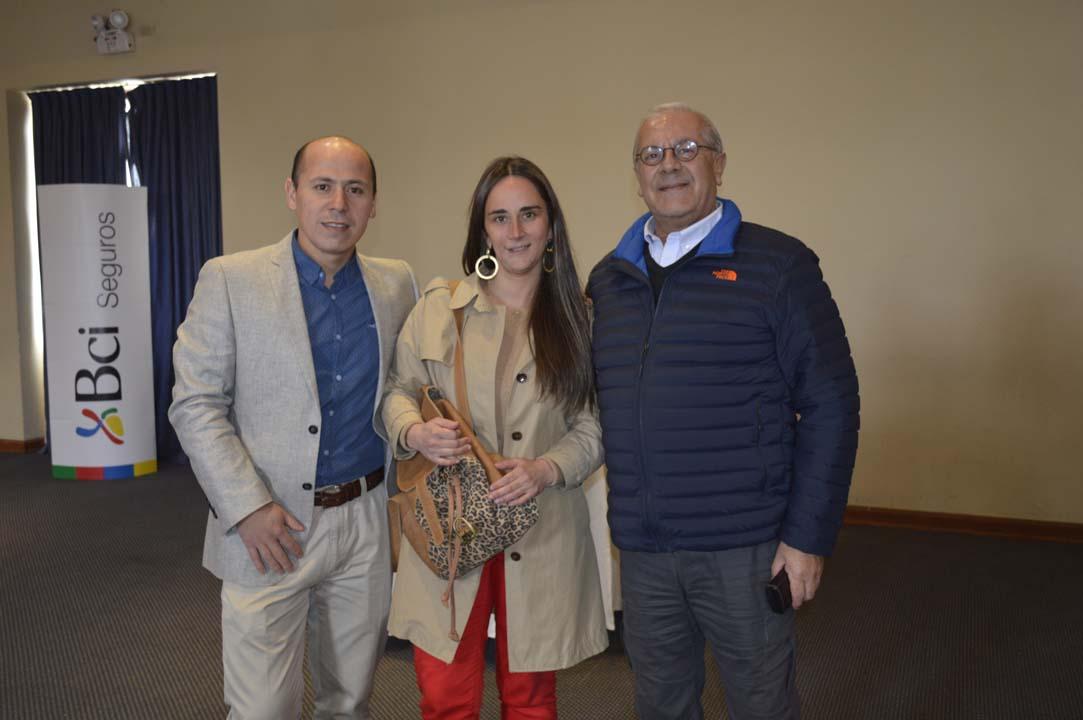 Daniel Yáñez, María José Espinoza y Carlos Fuentes