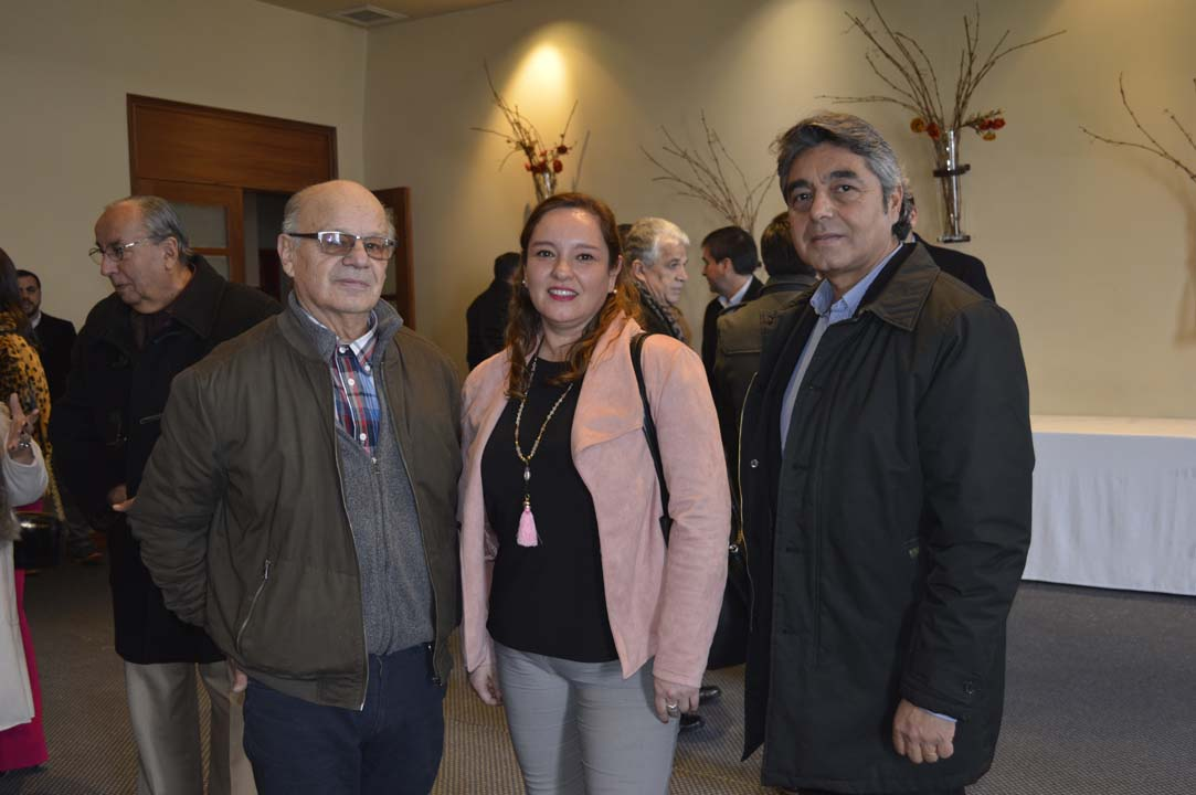 Francisco Cerda, Sandra Castillo y Jorge Olmedo