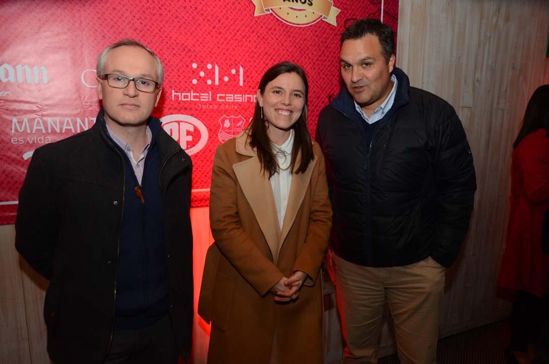 Boris Oberg, María Brandan y Rodrigo Herrera