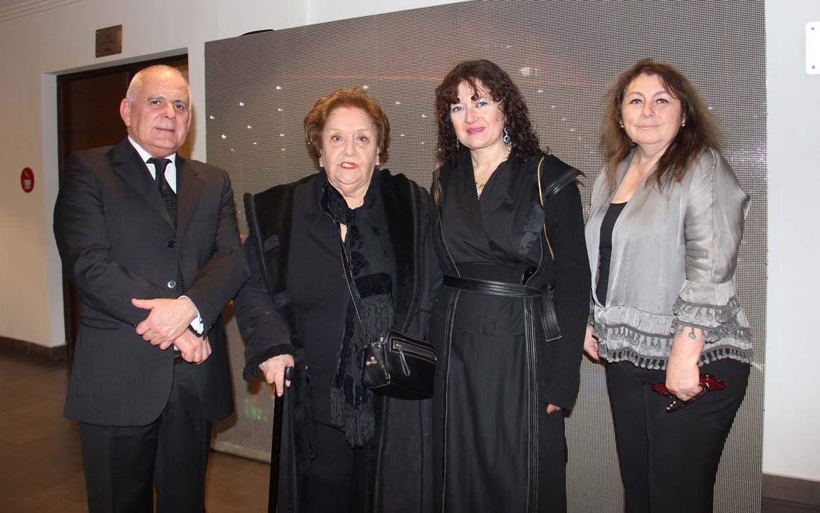 Arnoldo Weber, Luisa Dora González, Lorena Villablanca y Estrella Monroy