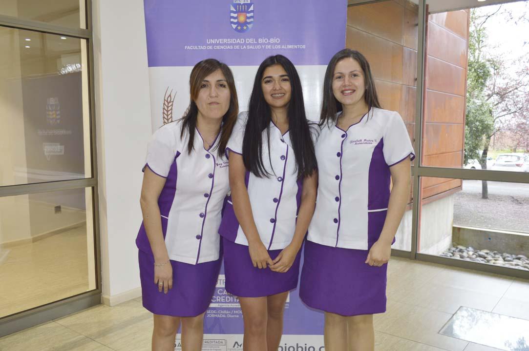 Yeny Viveros, Rocío Chandía y Elizabeth Muñoz
