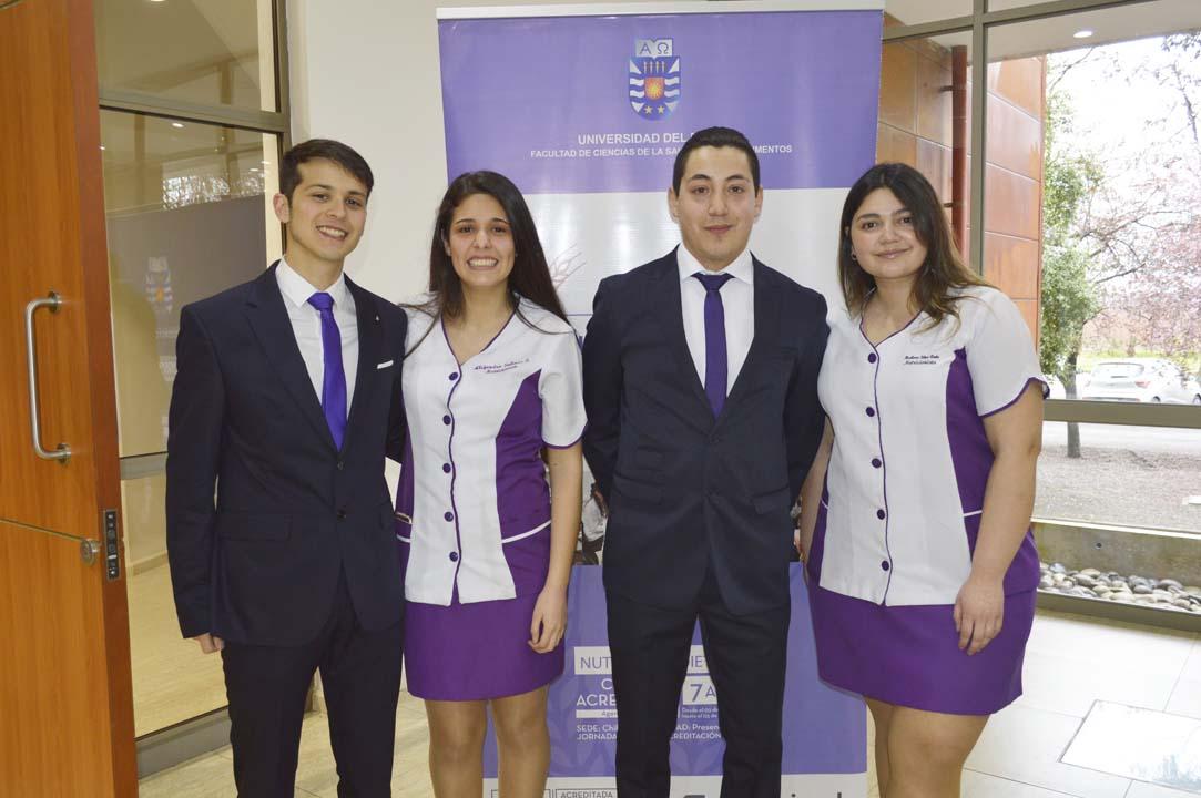 Matías Saavedra, Alejandra Salinas, Luis Contreras y Bárbara Silva