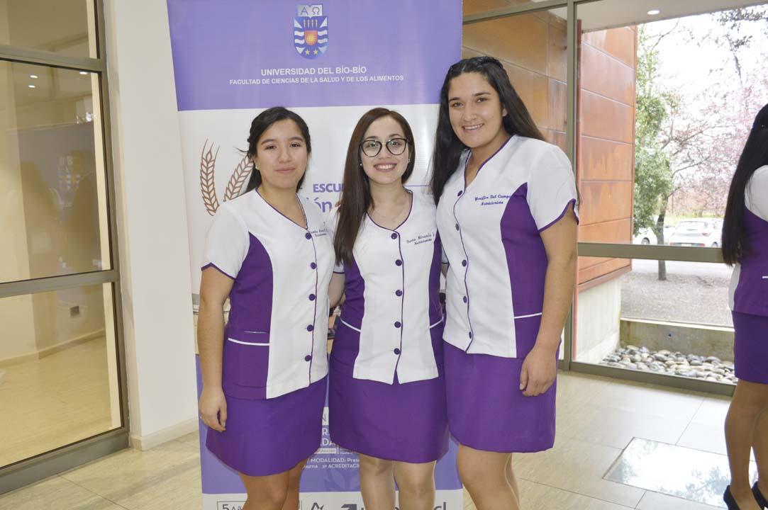 Camila Alvear, Berta Miranda y Yeniffer Del Campo
