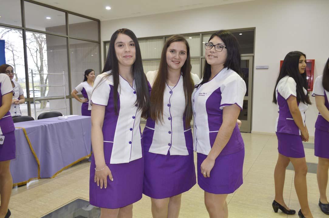 Karen Rubilar, Ornella Bustos y Constanza Astete