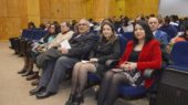 Fernando Toledo (Prorrector Universidad del Bío-Bío), Mónica Cardona (Secretaria Académica Facultad de Ciencias de la Salud y de los Alimentos) y Gladys Quezada (Directora Escuela Nutrición y Dietética)