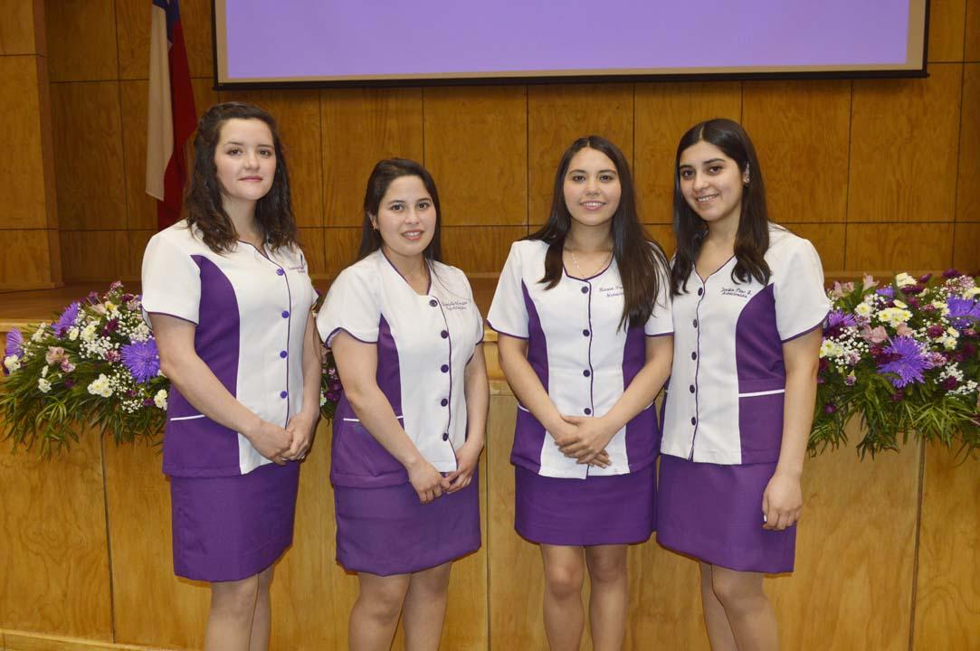 Francisca González, Gabriela Morales, Karen Parra y Jenifer Pino