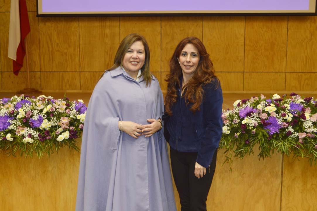 Marcela Vera (Magíster en Gestión Alimentaria) y Pamela Chavarría (Académica Departamento de Nutrición y Salud Pública UBB)