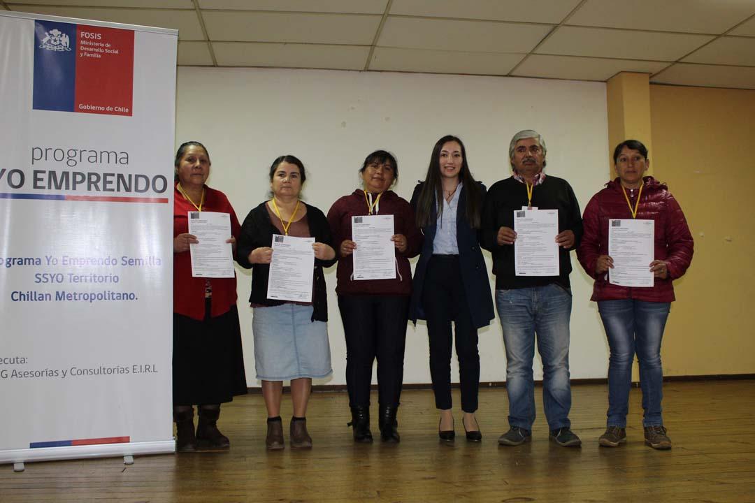 Blanca Venegas, Ana Acuña, Bernardina González, Catherine González, Ángel Poblete y Cecilia Lagos