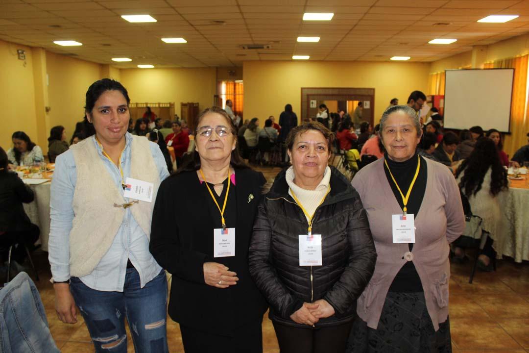 Claudia Quiroga, Celia Montecinos, Nilsa Otárola y Rosa Orellana