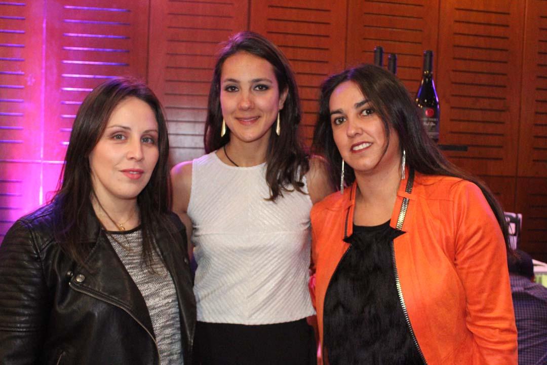 Carolina Zúñiga, Josefina Chaín y Graciela Cáceres