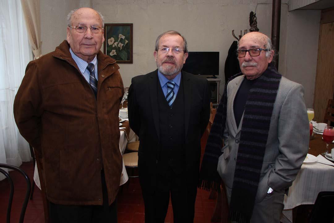 René Recabarren, Renato Hernández y Carlos Yáñez