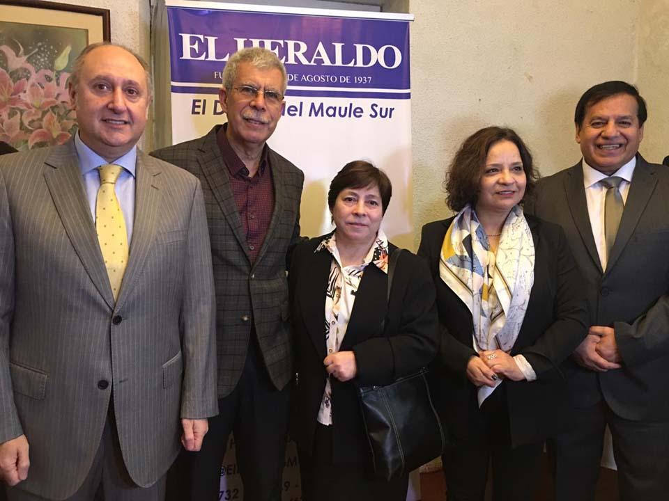 Yamil Najle, Raúl Espinoza, María San Martín, Cecilia Rojas y Miguel Ángel Venegas