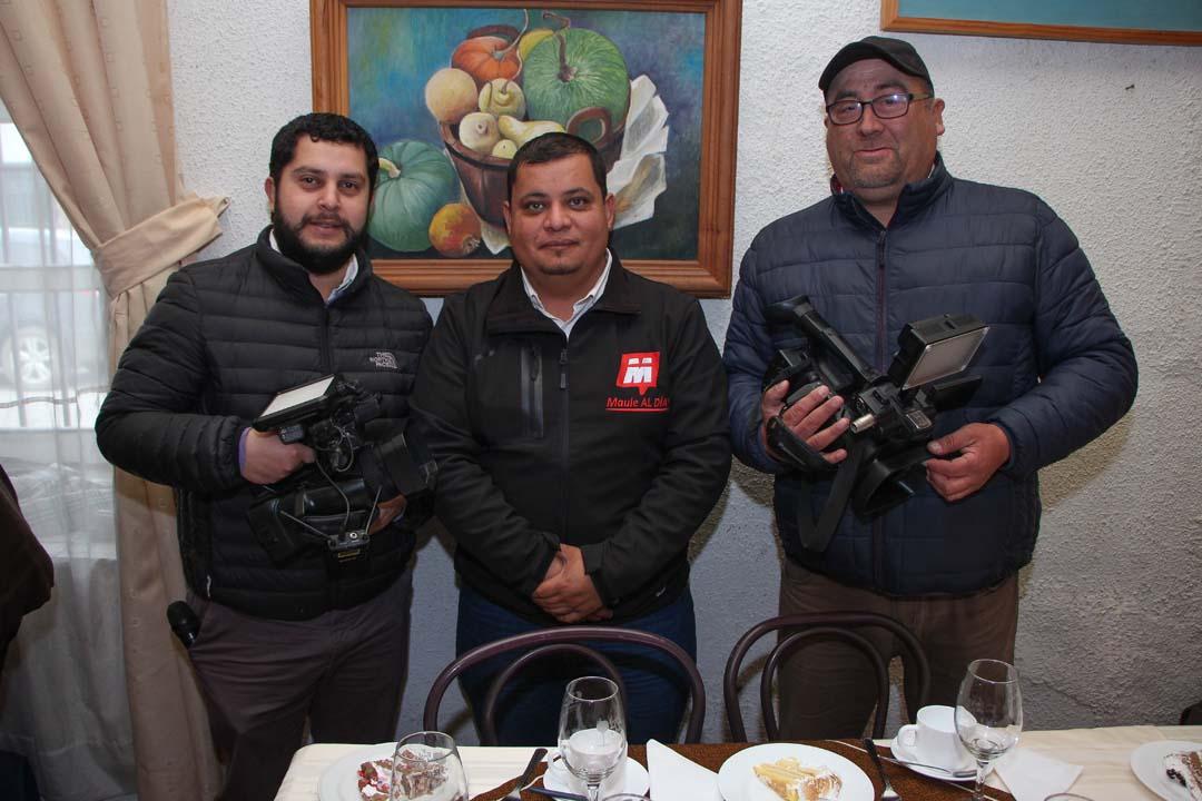 Mauricio Salazar, Iván Valdivia y Waldo Yáñez