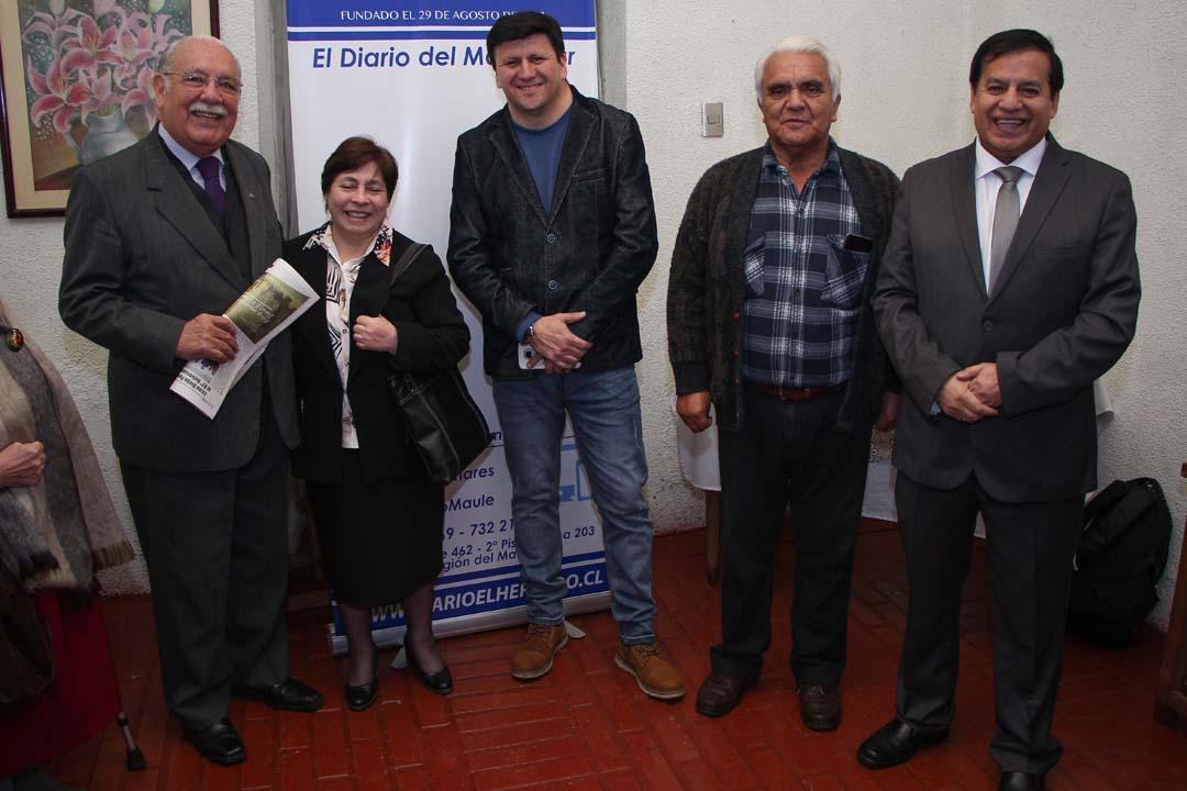 Carlos Hormazábal, María San Martín, Gerardo Domínguez, Enrique Casanuevas y Miguel Ángel Venegas
