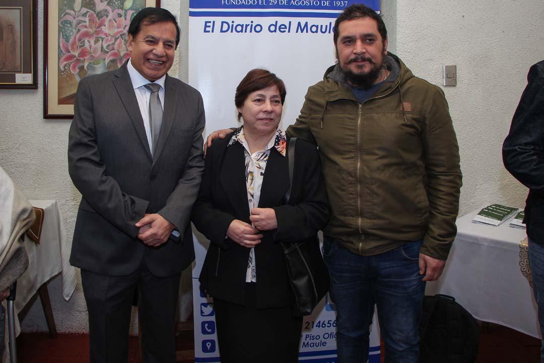 Miguel Ángel Venegas, María San Martín y Juan Francisco Andrade