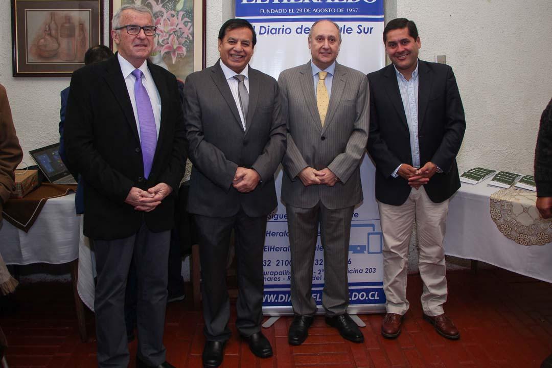 Jaime González, Miguel Ángel Venegas, Yamil Najle y Mario Meza