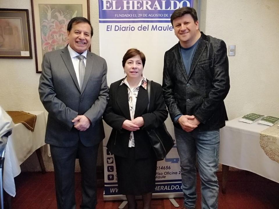 Miguel Ángel Venegas, María San Martín y Gerardo Domínguez