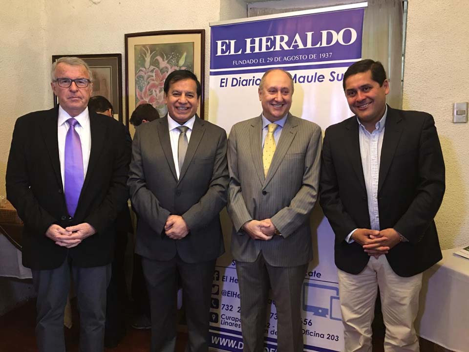Jaime González, Miguel Ángel Venegas, Yamil Najle y Mario Meza Vásquez