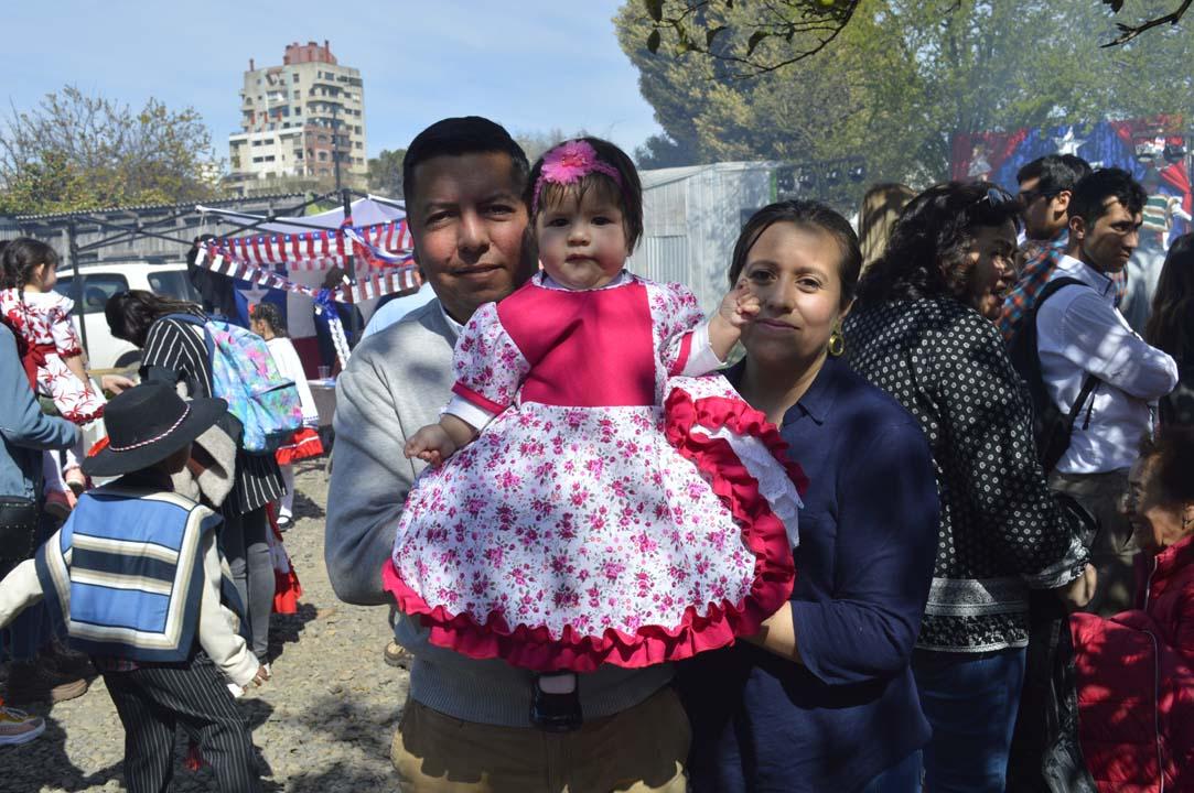 Alcibiades Sanhueza, Hideria Silva y la pequeña Agustina