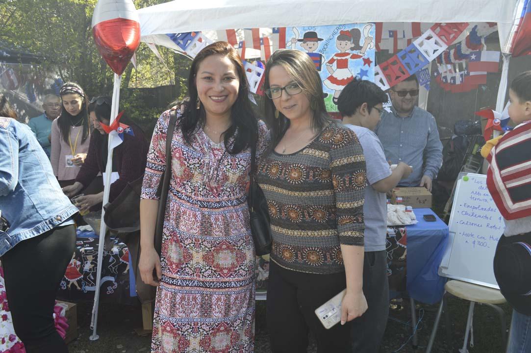 Yeny Bello y Andrea González