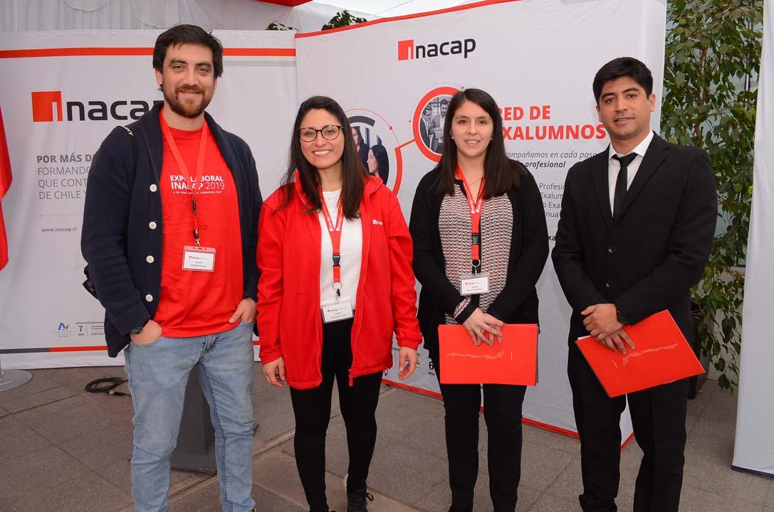 Ricardo Rojas, Nathalia Tapia, Nataly Aravena y José Viralta