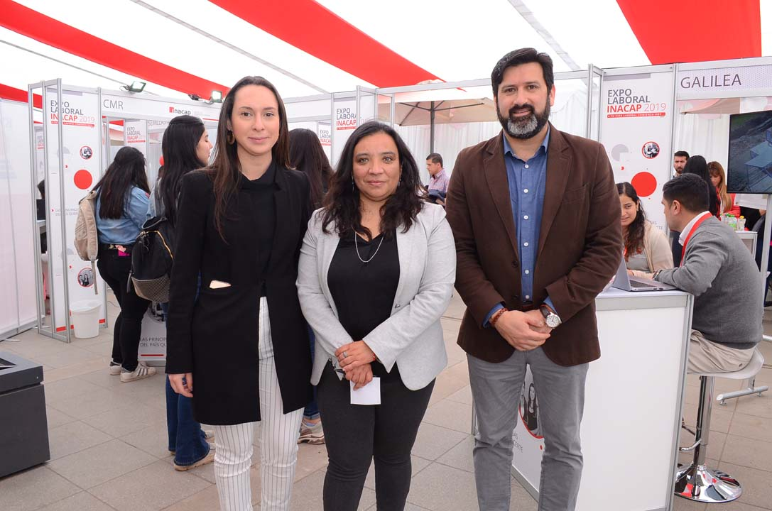 Stella Moisan, Pamela Casanova y Claudio Rojas Albrecht