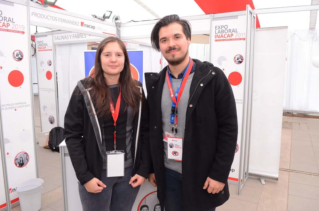 Verónica Needham y Luis Gajardo de Empresas PF