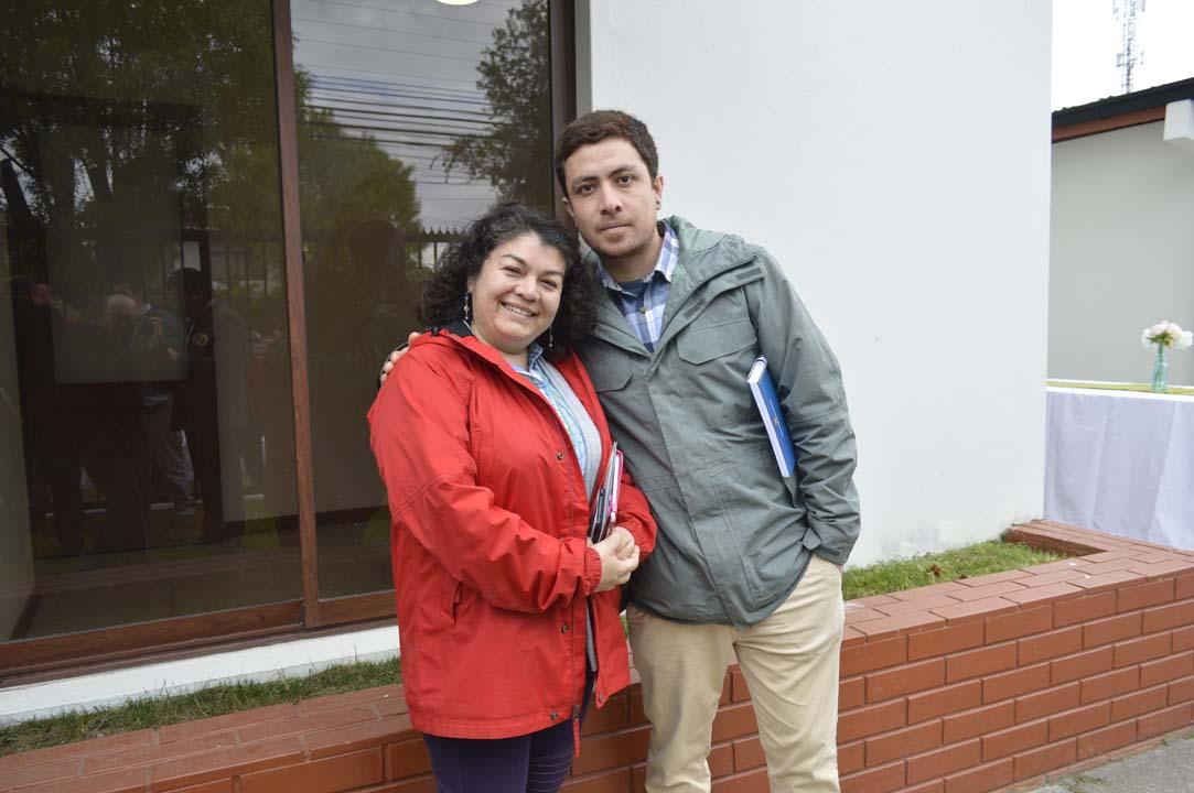 Carolina Fuentealba y Gutemberg Villarroel
