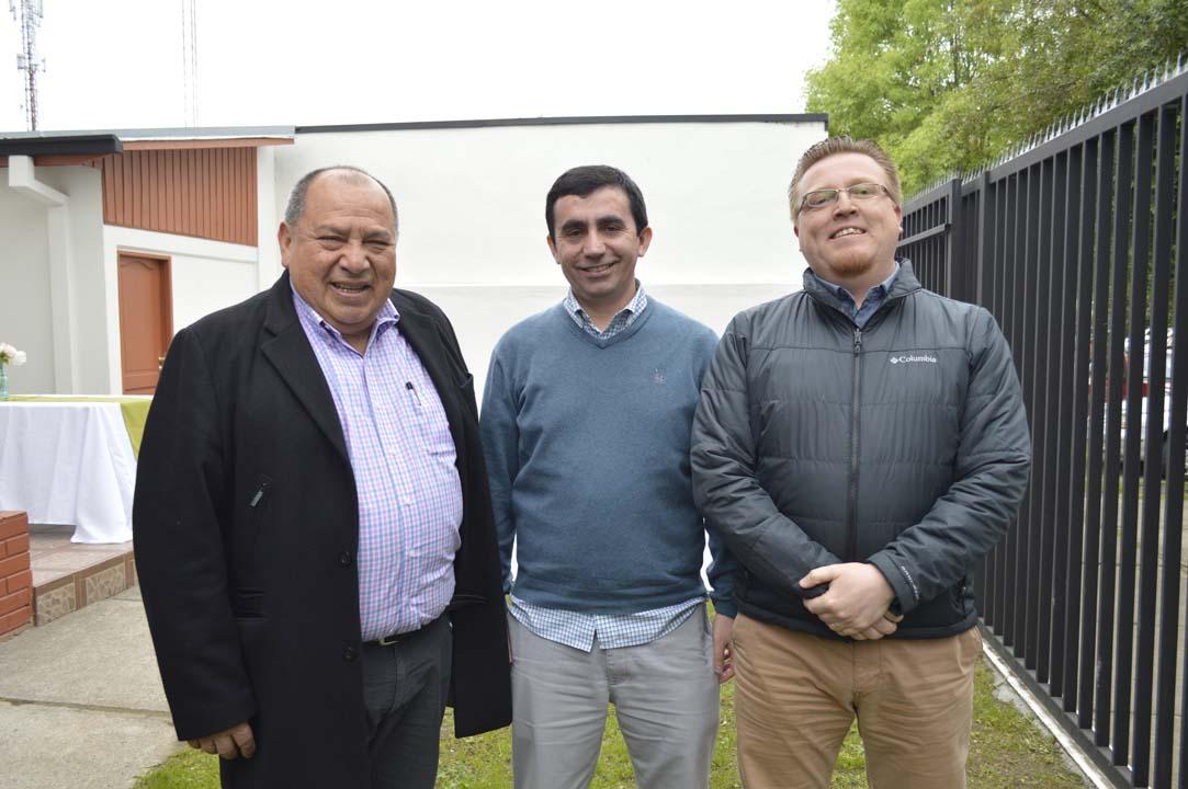 Domingo Sáez, Juan Sepúlveda y Jorge Bórquez