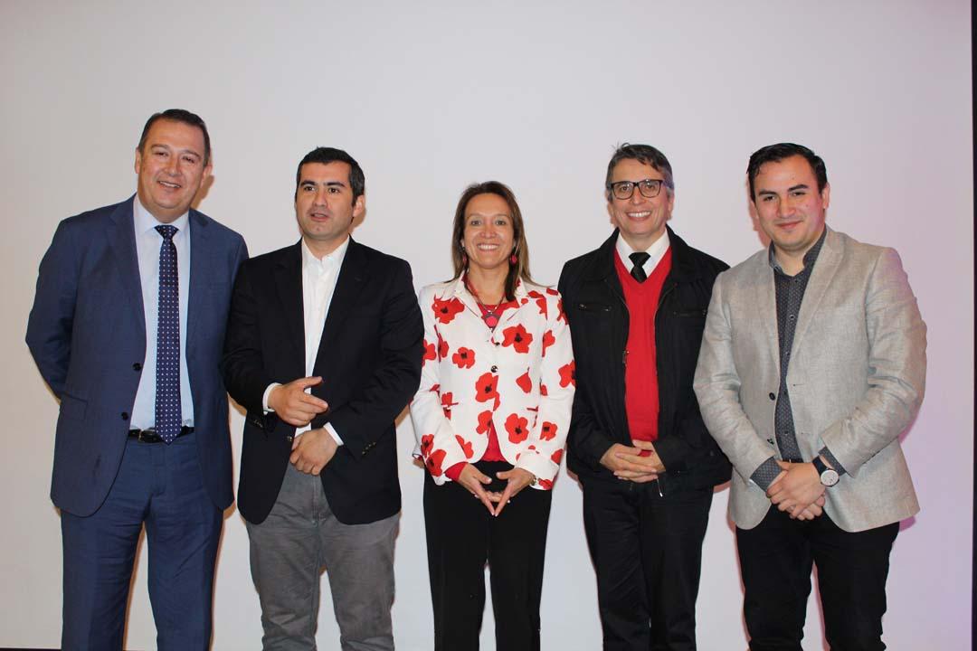 Hernán Hernández (presidente del Consejo Provincial de Turismo), Guillermo Vergara, Pamela Navarro (directora provincial de Turismo en Biobío), Mauricio Ramírez y Francisco Díaz.