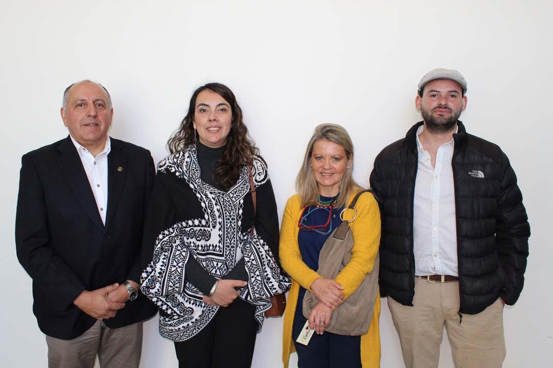 Walter Aránguiz, Yalehín Bórquez, Marcela Sepúlveda y Richard Deleveau.