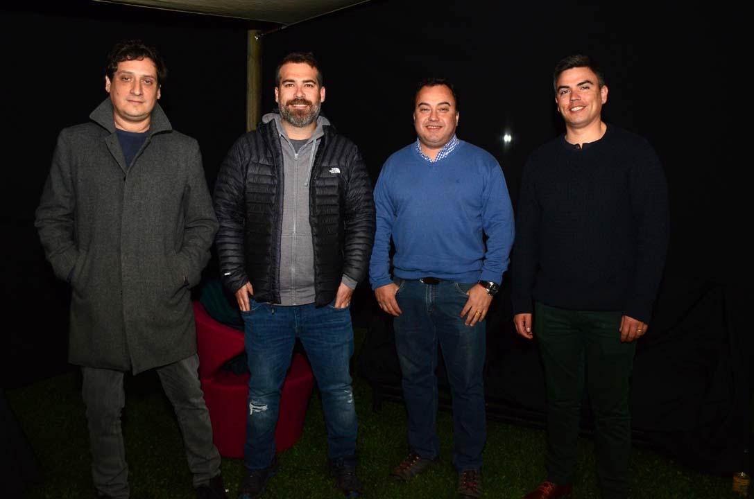 Luis Reyes, Tomás Guerra, Claudio Soto y Exequiel Camus